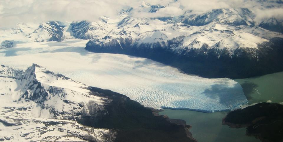 Aerial view from Perito Moreno
