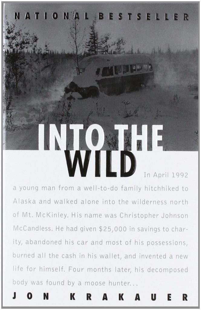 Books to read when traveling- Into the wild by Jon Krakauer