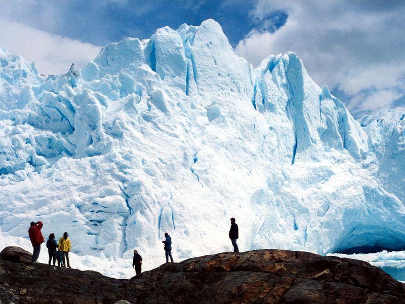 Perito Moreno from underneath